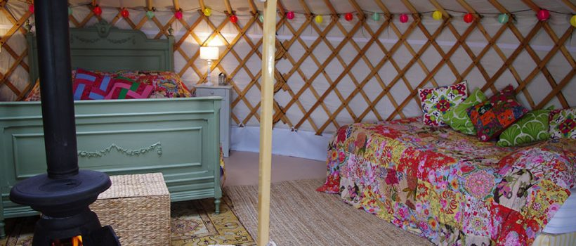 The interior of our Mongolian yurt