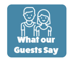What our guests say logo