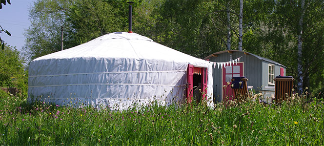 a yurt in Hereford