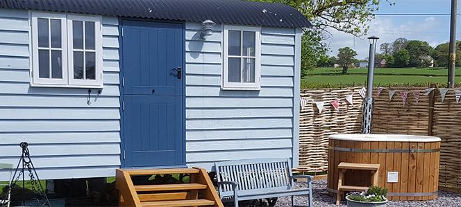 shepherd's hut in Herefordshire