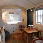 Shepherd Hut inside living space are
