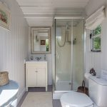 Private toilet and shower for your exclusive use when you stay in our yurt