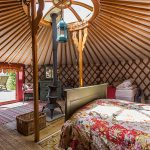 Inside Mongolian Yurt in Herefordshire in The West Midlands in England
