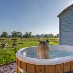 Shepherd Hut Hot Tub