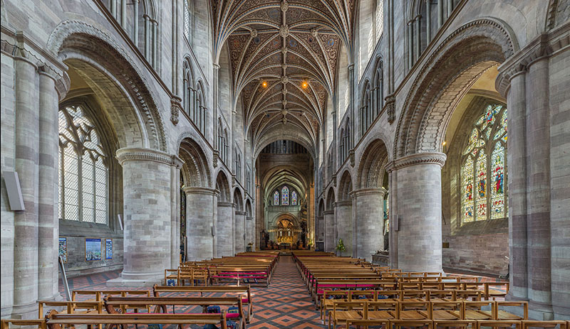 Herefordshire Cathedral nave