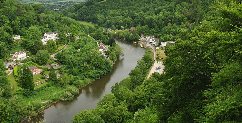 Aerial view of Symonds yat