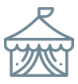 blue yurt icon